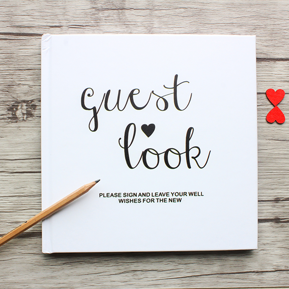 Ideas For Wedding Guest Sign In: Personalized White Wedding Guest Book Alternatives,Custom