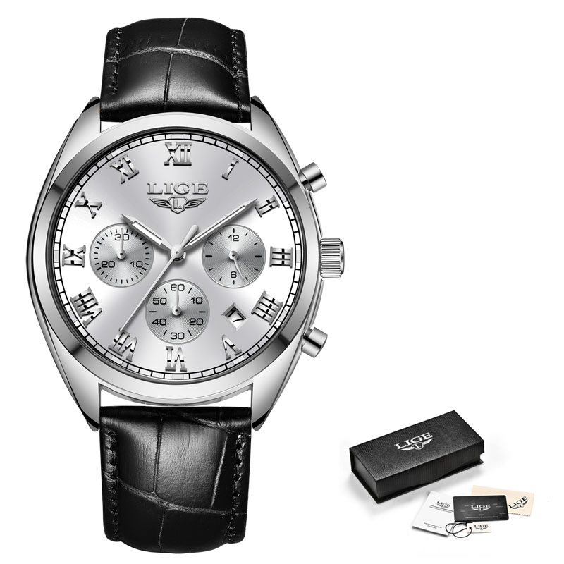 leather silver white