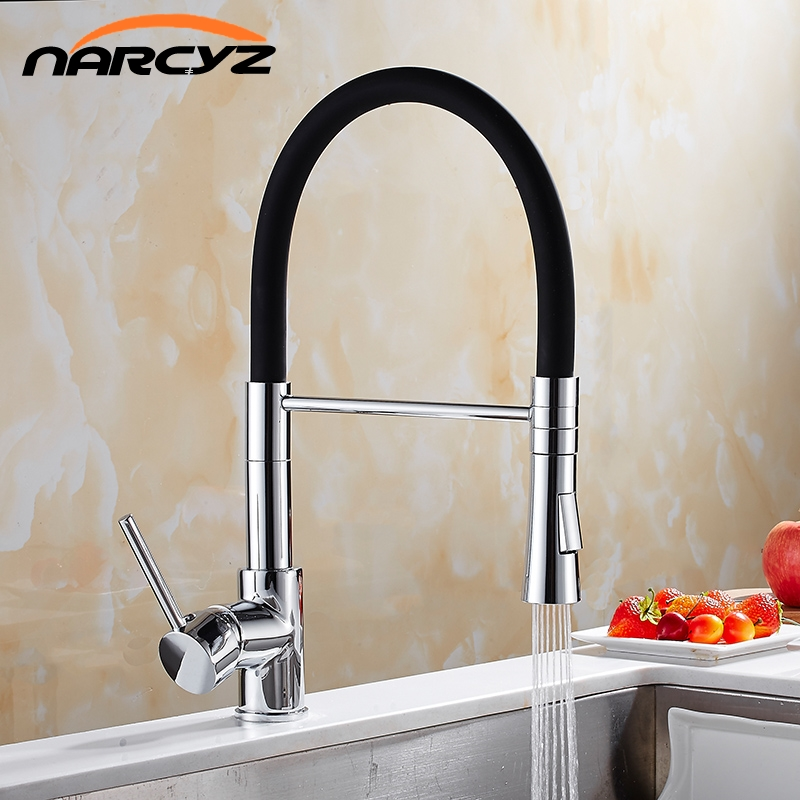 New Style Chrome with LED Brass Faucets for Kitchen Single Handle Pull Down Deck Mounted Crane Chrome Mixer Faucet XT-157New Style Chrome with LED Brass Faucets for Kitchen Single Handle Pull Down Deck Mounted Crane Chrome Mixer Faucet XT-157