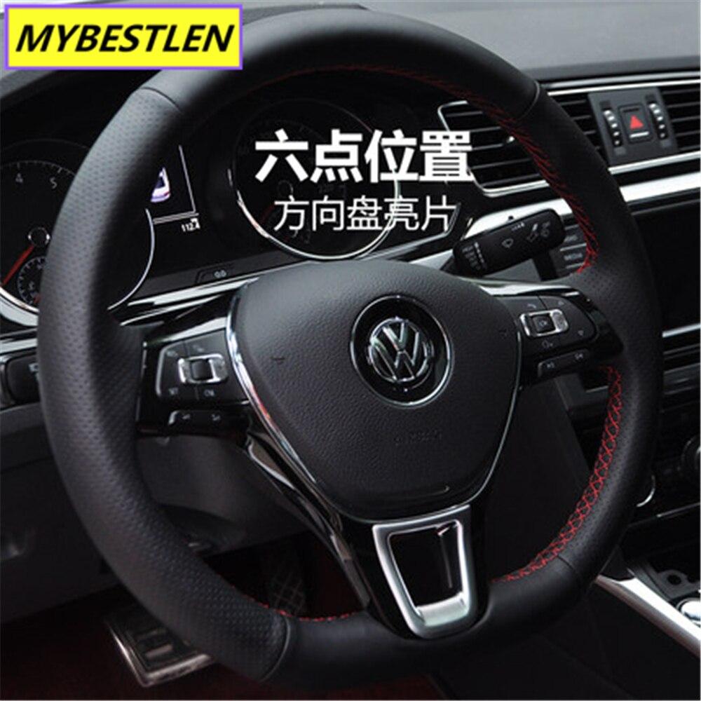 Image 4 - New ABS Car steering wheel interior sticker for VW Volkswagen Golf 7 POLO Santana Jetta Bora Sagitar Lavida Car Syling-in Car Stickers from Automobiles & Motorcycles