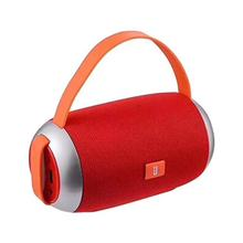 TG-112 Cloth Cylinder MP3 Wireless Bluetooth Speakers Portable with Cloth Net Red Color(China)
