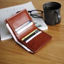 LANSPACE genuine leather men's wallet handmade purse designe