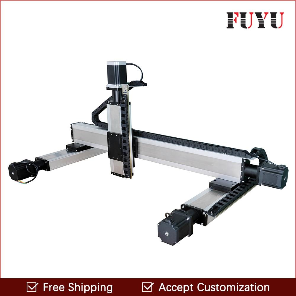 Free shipping 100x100x100mm stroke nema23 stepper motor drive cnc XY,XYZ linear motorized translation stage for printer