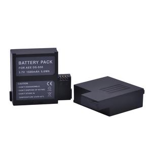 Image 3 - 2 adet 1500 mAh DS S50 DSS50 S50 Pil Accu + USB çifte şarj makinesi AEE DS S50 S50 AEE D33 S50 S51 s60 S71 S70 Kameralar Pil