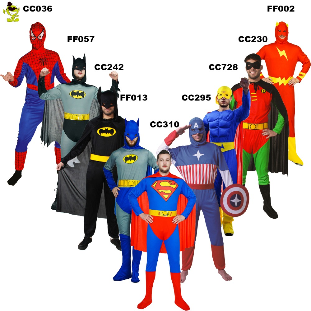 Adult-Men-Spiderman-Cosplay-Spandex-Super-Hero-Spiderman-American-Captain-Flash-Man-Costume-For-Halloween-Party