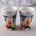 PZ025,Free Shipping! Mikey Design Paper Cup, Kids Children's Birthday Party Cartoon Decoration Tableware, 20pcs/lot