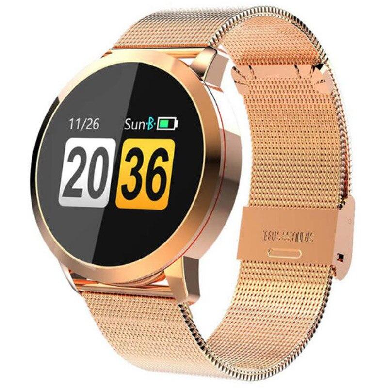 Fitness montre intelligente femmes hommes moniteur de fréquence cardiaque podomètre OLED tactile santé course Sport montre pour IOS Android