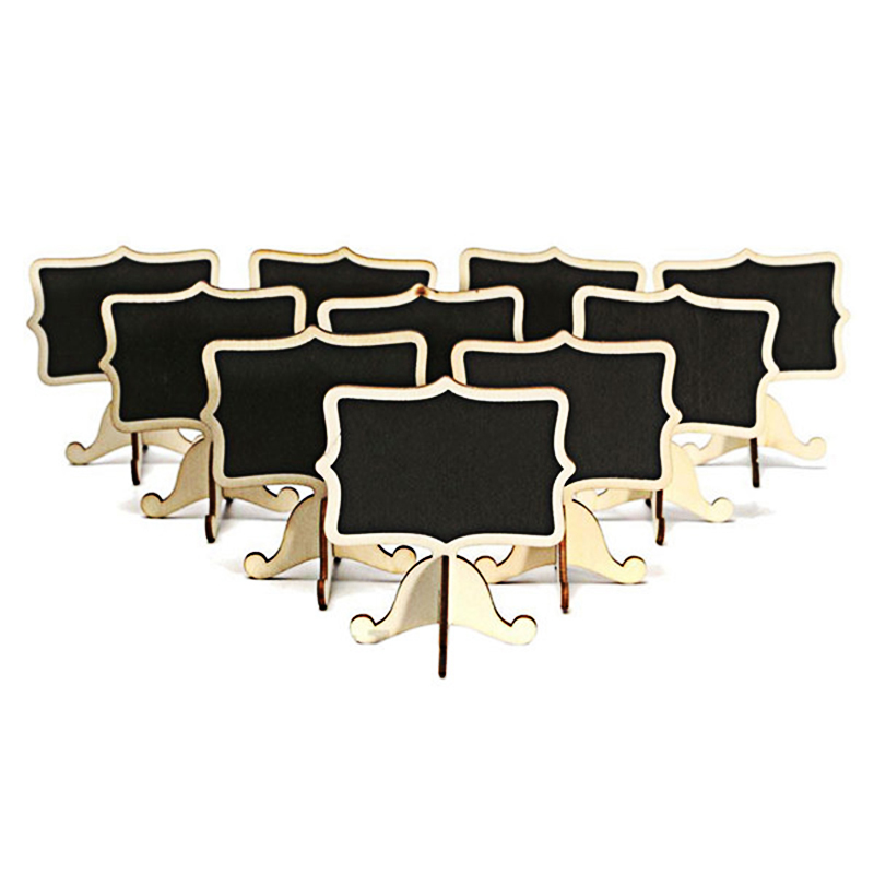10pcs / Set  I131838 Table Rectangular Blackboard 8.3X9X6cm