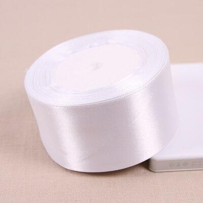 25 метров/рулон 50 мм широкий Белый сатин Ленты для свадьбы Аксессуары оптовая продажа подарочной упаковки ленты