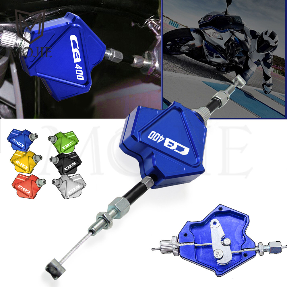 Motorcycle CNC Stunt Clutch Lever CB400 Easy Pull Cable System For Honda CB400/CB400SF/CB400VTEC CB 400 CB400 SF VTEC 1992 1998|Levers  Ropes & Cables| |  - title=