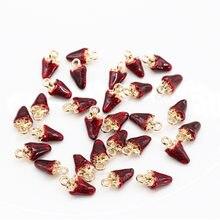 Bracelet/ras du cou fait à la main, breloque fraise rouge or, breloque de Simulation en résine pour bijoux suspendus bricolage-même