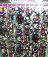 Новинка, 48 шт./компл., значки в стиле японского аниме «Мой герой», круглая брошь, значок, детская одежда, аксессуары 4,5 см, XA02