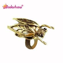 Забавные Cicadas насекомые кольца для женщин Винтаж золото и серебристый цвет регулируемый размер панк ювелирные изделия палец кольцо Rn-581