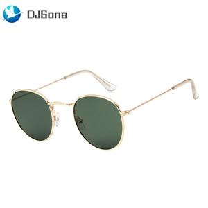 DJSona NEWEST 100% Polarizd Sunglasses Women/Men Brand Designer Round Glasses Lady Mirror Sun Glasses Drive Oculos De Sol Gafas(China)