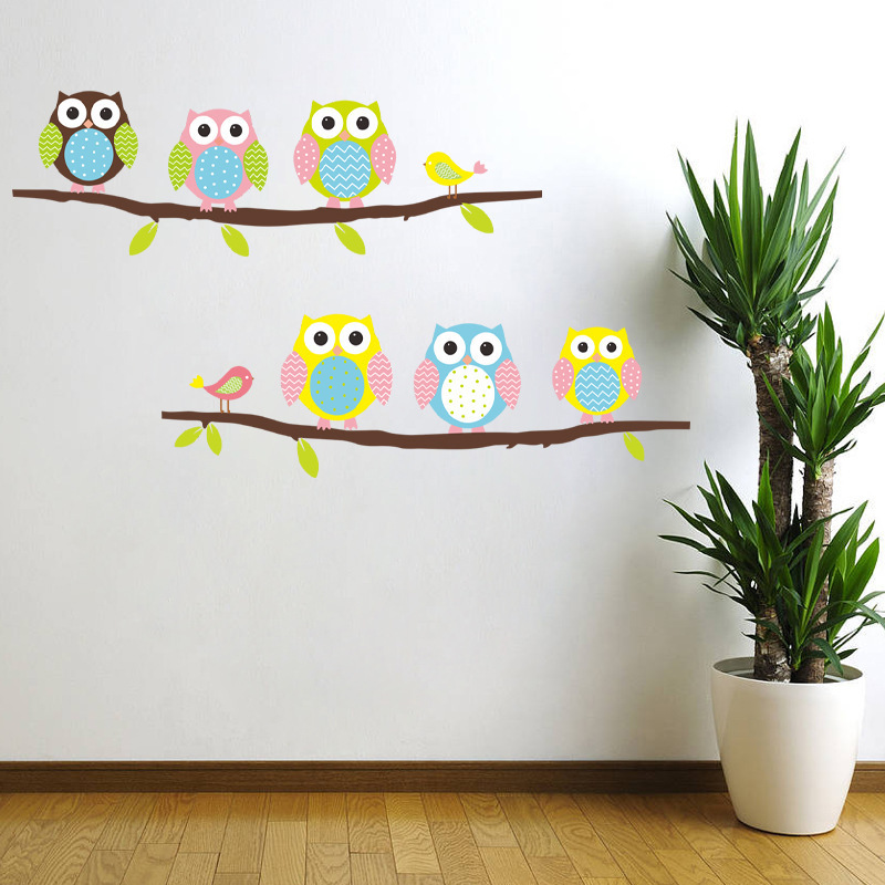 Aliexpress.com : Buy Cute Owl Poster Birds Sticker Home ...