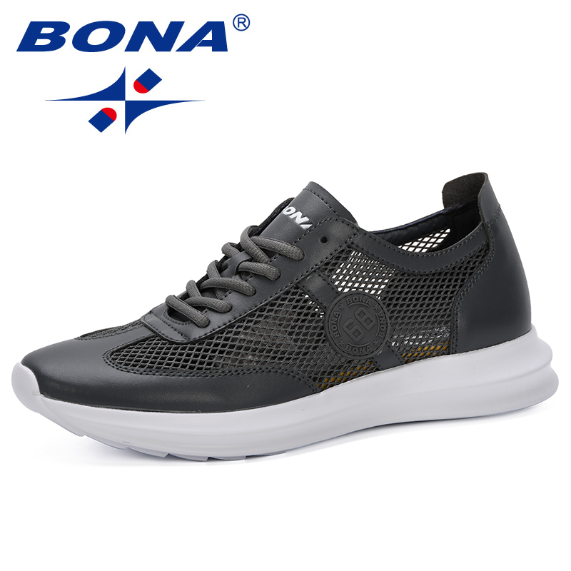BONA 2019 New Popular Style Mesh Men Shoes Casual Breathable Men Sneakers Mens Fashion Shoe For Male Footwear Comfortable TrendyBONA 2019 New Popular Style Mesh Men Shoes Casual Breathable Men Sneakers Mens Fashion Shoe For Male Footwear Comfortable Trendy