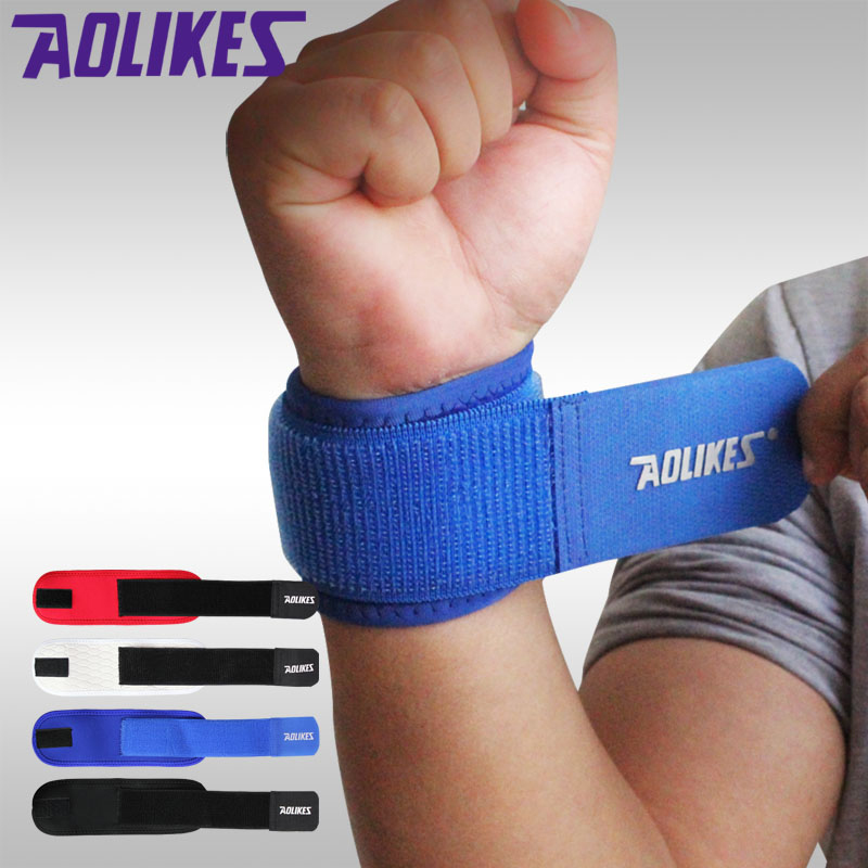 AOLIKES 1PCS Adjustable Wrist Support Brace Brand Wristband Aolikes Men/Women Gym Wrestle Professional Sports Protection Wrist