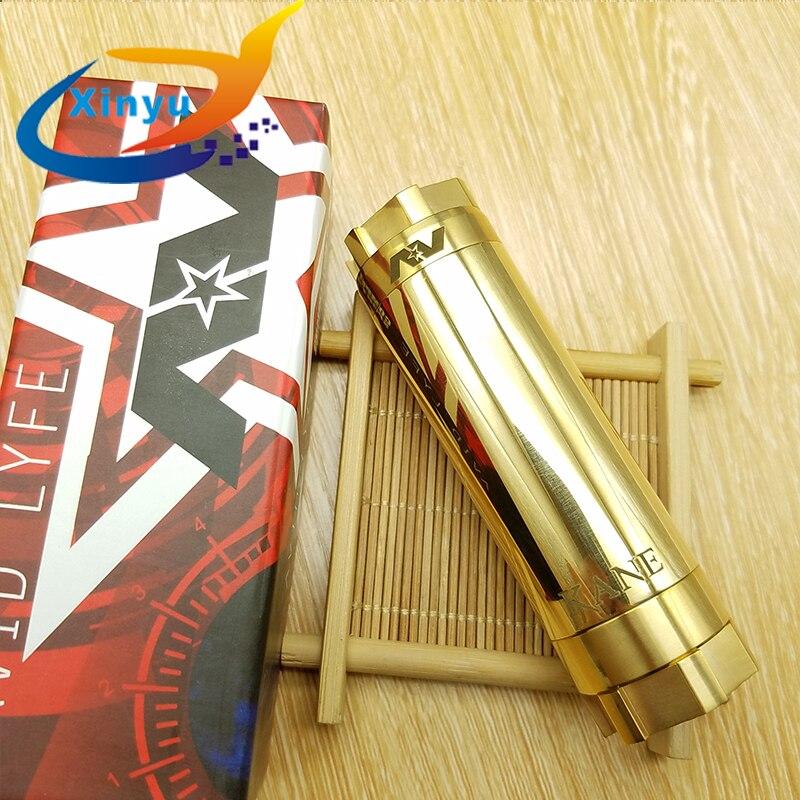 NEWEST Arrived AV Kane MOD 18650 20700 Battery 28.7mm Diameter Mech Mod Brass Material Vaporizer Box Mod Fit 510 Thread Atomizer