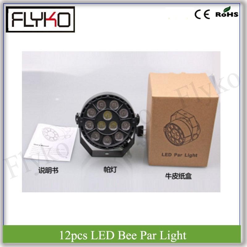 12 W a mené la lumière RGBW 12 pièces yeux d'abeille par la lumière a mené l'éclairage d'étape de dj