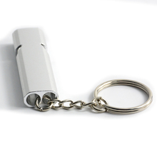 Outdoor Survival Whistle Double Pipe High Decibel Aluminum Alloy Emergency Whistle For Keychain high quality120db edc emergency aluminum whistle camping survival keychain kit for outdoor activities pesonal safe security