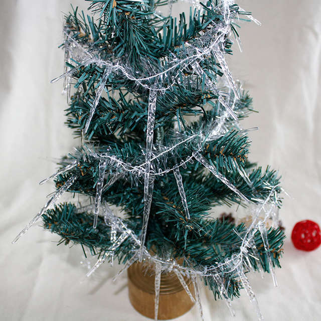 Icicles For Christmas Trees.1 8m 2pcs Christmas Icicle String Xmas Tree Decoration