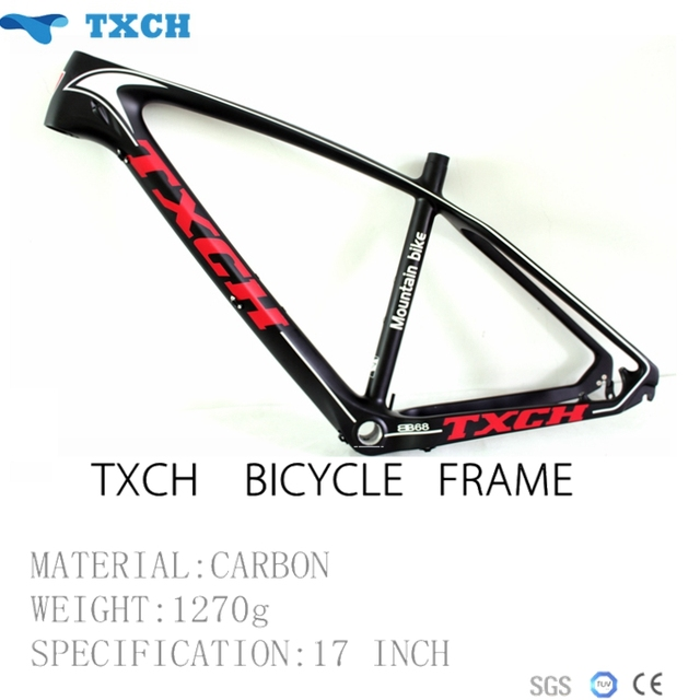 Cheap 2016 Full Carbon Fiber Frame 17inch Moutain Bike Frame T800 Carbon MTB Frame Free Shipping