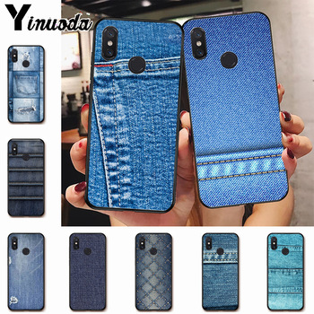 Ynuoda jeans style blue Hot Printed Cool Phone Accessories Case for xiaomi mi 8se 6 note2 note3  redmi 5 plus note5 cover