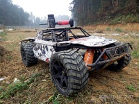 MADMAX Broadened Wheels Waterproof Wear Resistant Tire FOR LOSI 5IVE T HPI BAJA RC Monster truck 2 Front & 2 Rear 220X105MM