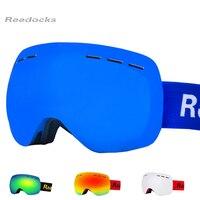Reedocks New Brand Ski Goggles Double Layers UV400 Anti Fog Big Ski Mask Glasses Skiing Men