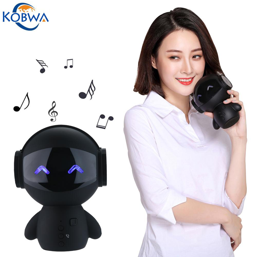 Inteligente robot altavoz bluetooth inalámbrico mini bass stereo music box altav