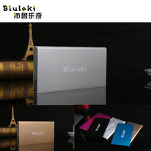 High Quality Ultra Thin Metal Power Bank 20000mAh Mobile External Battery Portable Power Bank for iPhone 6S Plus 6S and Others