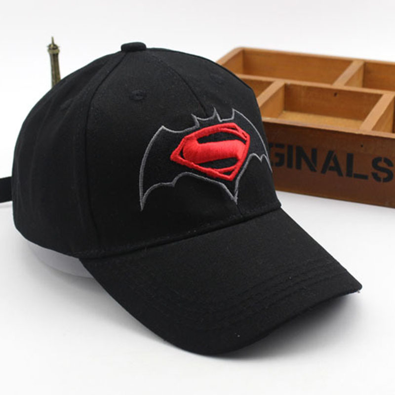 Anime Cartoon Superman Batman   Baseball     Caps   For Children Boy Super Hero Hip Hop Hats Sun Hat Outdoor Shade   Cap