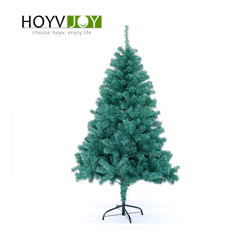 HOYVJOY 60-90cm Green Pvc  Xmas Big Christmas Tree New Year Decorations With LED Light And Small Decorations Wholesale Custom