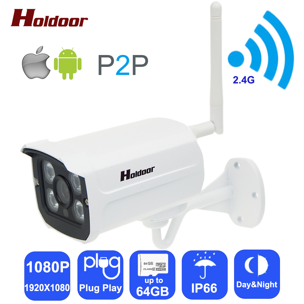 Holdoor HD 1080P Wifi IP Cameras Outdoor Bullet P2P CCTV Surveillance 2.0MP Wireless IP Camera Onvif 2MP For Home Security wistino cctv camera metal housing outdoor use waterproof bullet casing for ip camera hot sale white color cover case