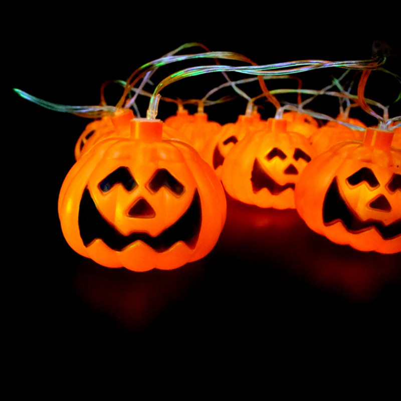 3m 16pcs pumpkin halloween string lights yellow color aa for M m halloween decorations