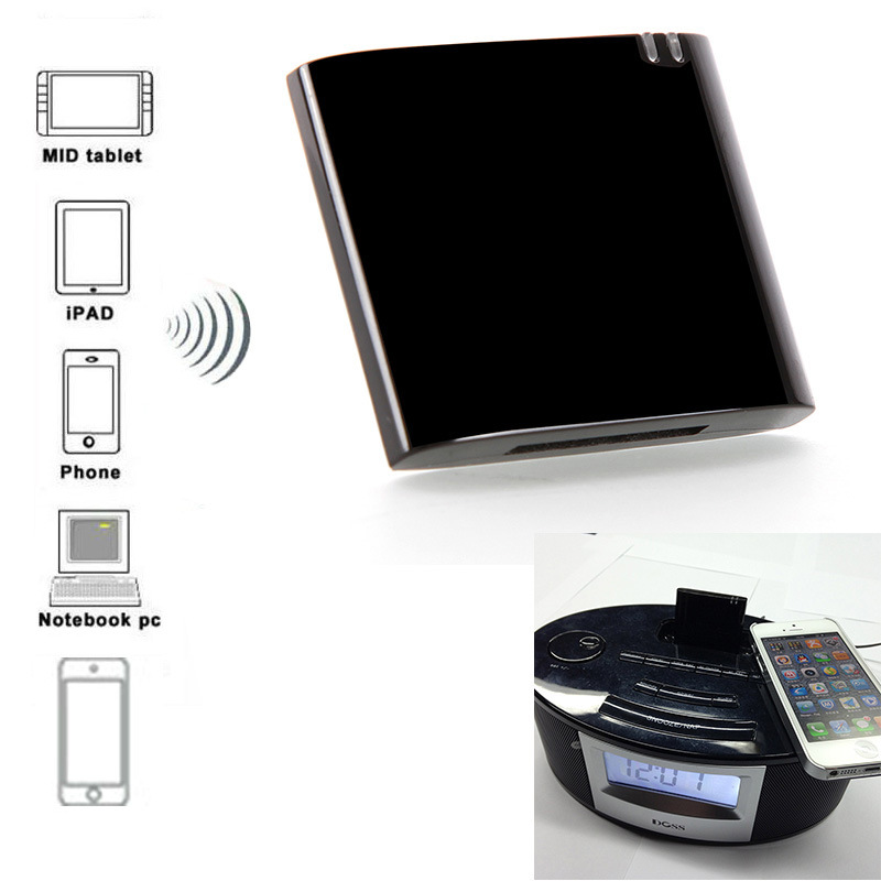 Desxz 30 Pin Dock CSR4.0-7450 Mini Bluetooth Receiver A2DP Music Receiver Bluetooth Audio Adapter foriPad iPod iPhone APT-X CSR