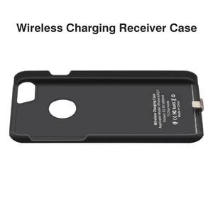 Image 2 - צ י מטען אלחוטי מקלט מקרה עבור iPhone 7 6 6s מקרה טלפון נייד אלחוטי טעינת Pad Dock כיסוי עבור iPhone 7 בתוספת 6 6s 8