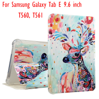 Fashion Painted Pu Leather Stand Smart Cover Case For Samsung Galaxy Tab E T560 T561 9