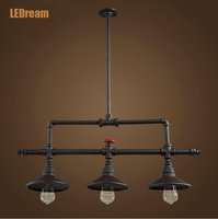 Conduit Creative Dining Room Lamp Wrought Iron Lamps And Lanterns Industry Wind Droplight Loft Bar Bar