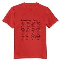 Col rond Maths Mathématiques beaux mouvements de danse Hommes t-shirt Designer de Loisirs petit ami t chemise