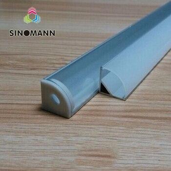 10-50 stücke 50 cm led bar licht gehäuse V form Dreieck aluminium profil mikly/klar abdeckung stecker clip kanal für PCB streifen