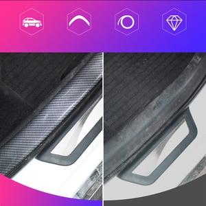 Image 4 - คาร์บอนไฟเบอร์ยางแถบนุ่มสีดำแถบกันชน DIY ประตูขอบยามรถสติกเกอร์ 1M