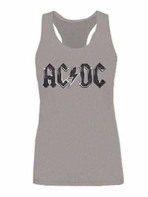 Этап рок-группа AC / DC женщин топы девочек мода жилет топы верхняя одежда без рукавов качества sml XL 2XL обычай урожай топ