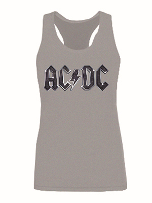 Stage rocha AC / DC mulheres tanque moda colete Tops Ladie mangas safra de qualidade o sml XL 2XL