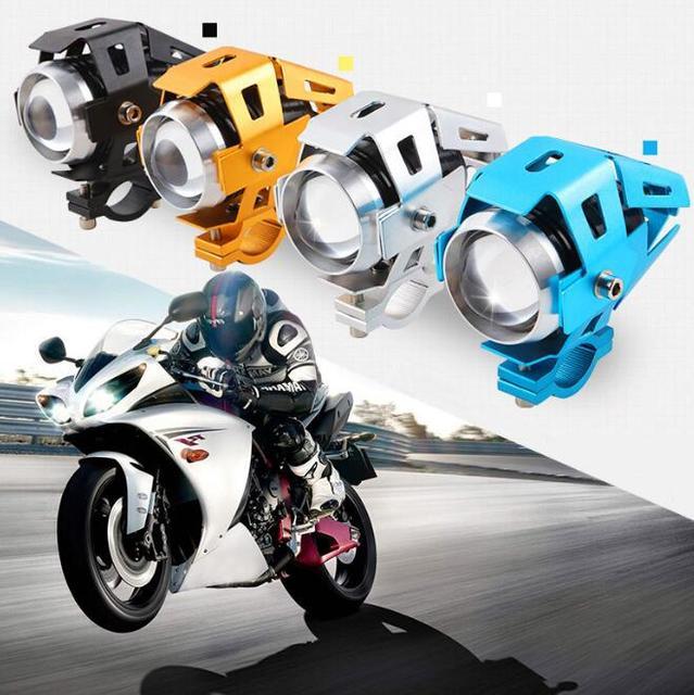 Super Bright Motorcycle CREE U5 LED Light Headlight Driving Fog Spot Lamp