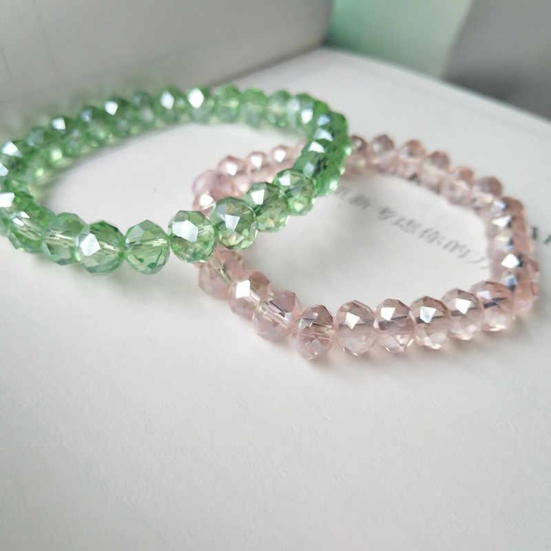 Элегантный роскошный браслет с кристаллами, блестящие ювелирные изделия для женщин и девочек, подарки, 10 цветов в наличии