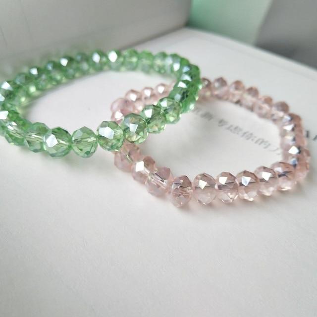 Elegant Luxury Crystal Bracelet Shiny Jewelry For Women Girls Gifts 10 colors av