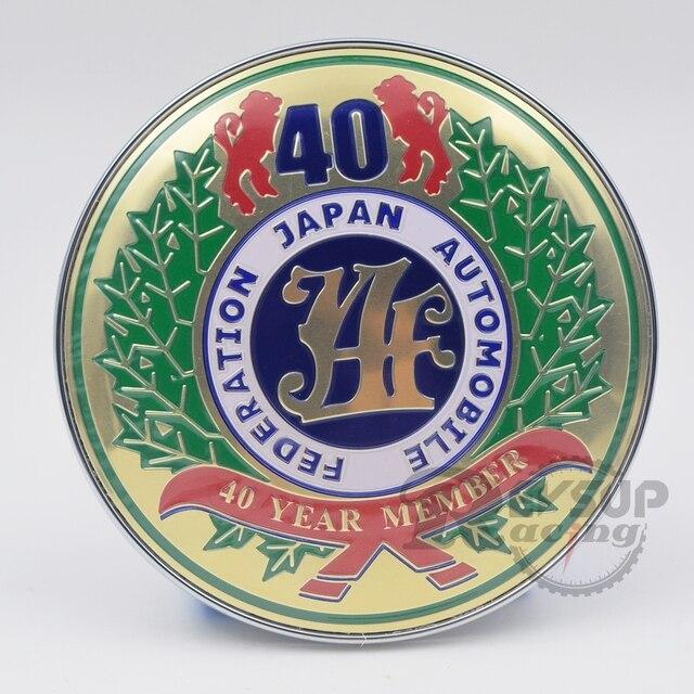 Diâmetro 9 cm Car Styling Universal Colorido 40 Ano Estados-membros JAF  Grade Dianteira Do