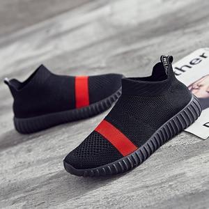 Image 2 - Zapatos de fondo suave para mujer, zapatillas de deporte transpirables de malla antideslizantes informales a la moda