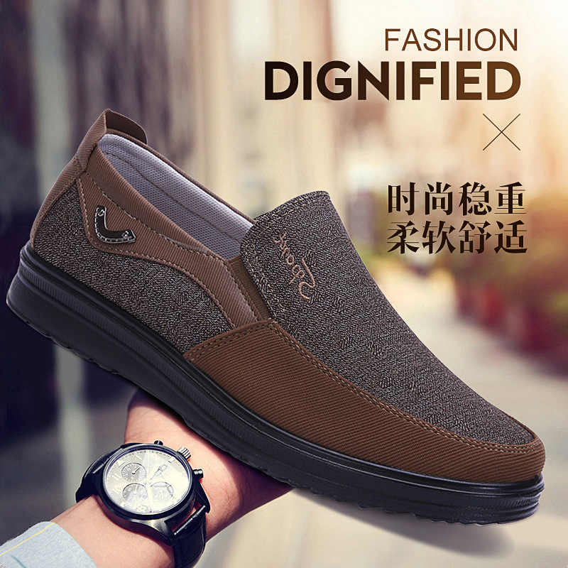 Canvas Loafers Shoes Slip on Men Casual Shoes Summer New  Breathable Fashion Soft Flat Driving Shoes dfv5